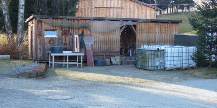 Nebengebäude mit Schlachtbereich